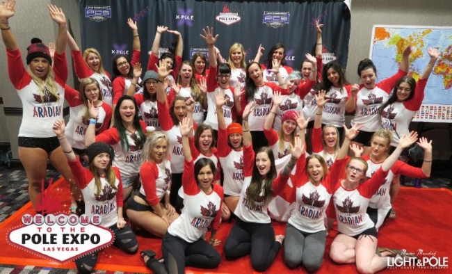 Bring The Pole Gang Contest 2017 winners Aradia Fitness from Edmonton, Canada