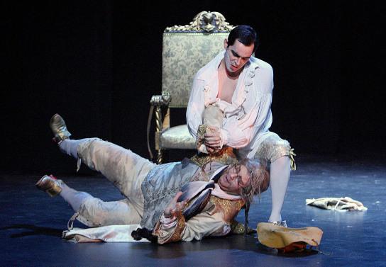 Don Giovanni and Leporello. — Photo by Mark Lyons.