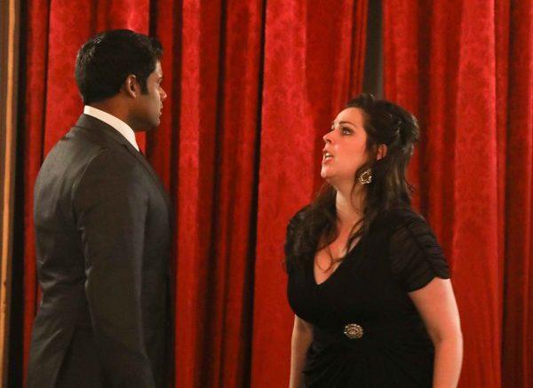 Sean Panikkar (tenor) and Amanda Woodbury.  —  Photo credit:  Stephen Sorokoff