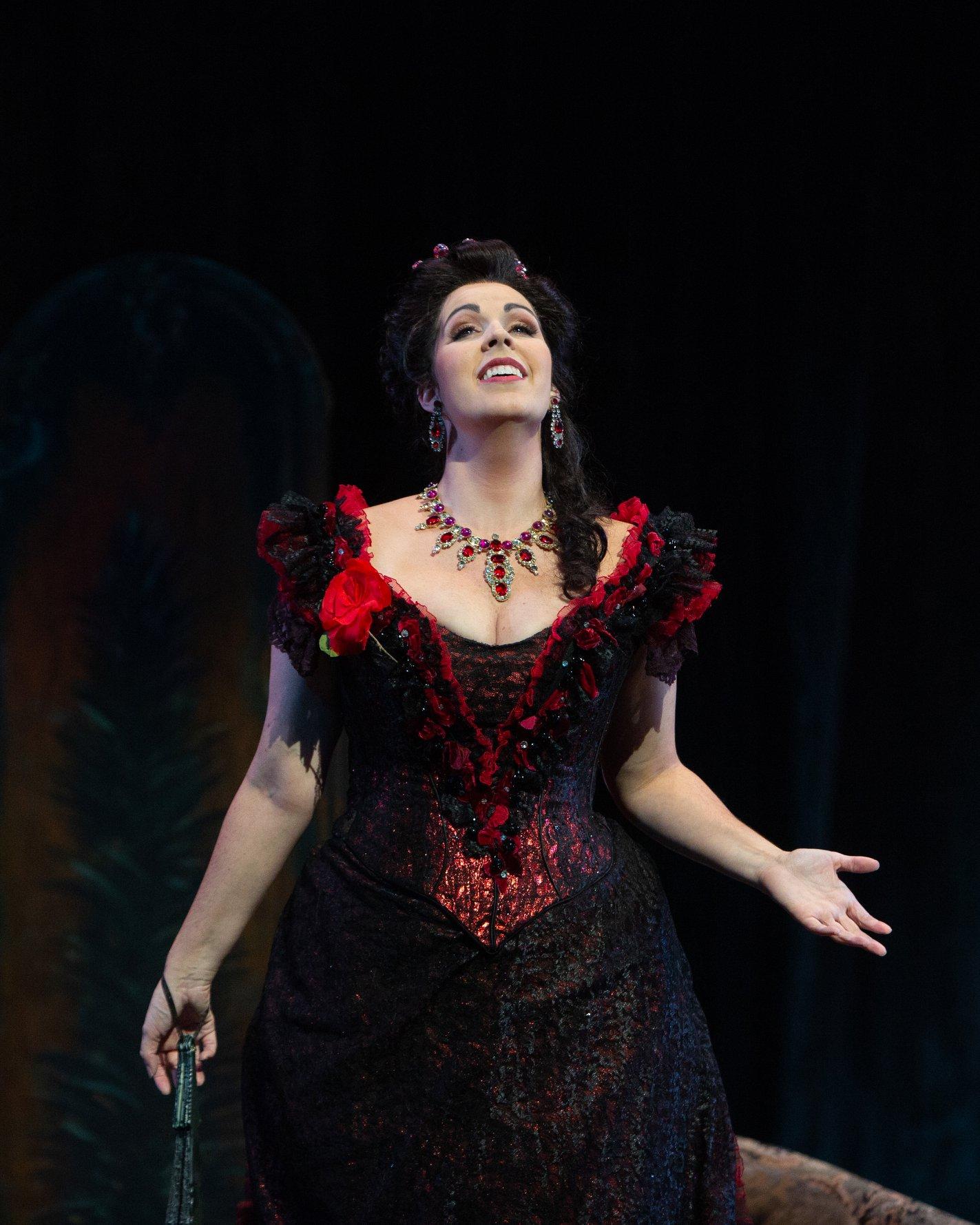 Soprano Amanda Woodbury as Violetta in Opera San Antonio's production of  La traviata . — Photography by  Marty Sohl