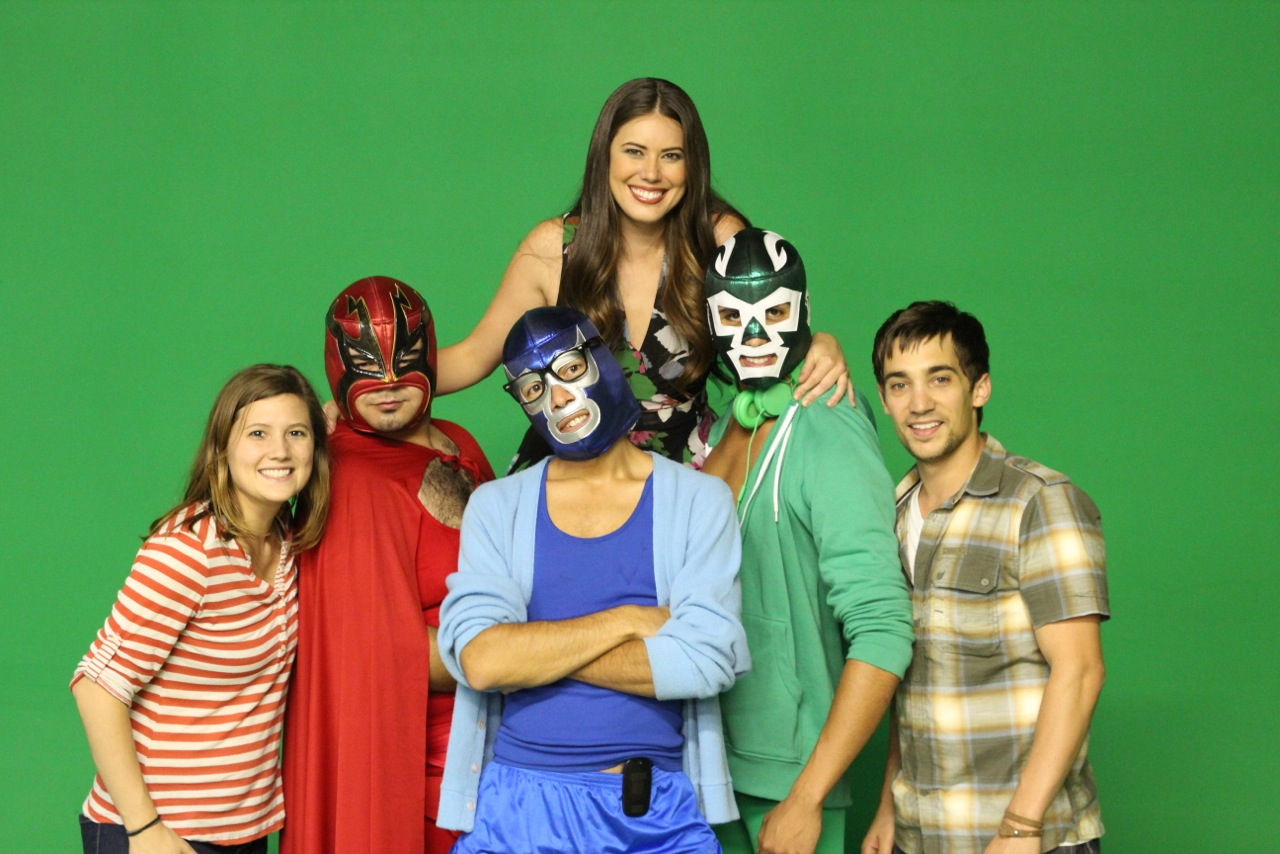 Co-directors Emily Moss Wilson + Angelo Restaino with the cast of the Cricket Wireless Ad