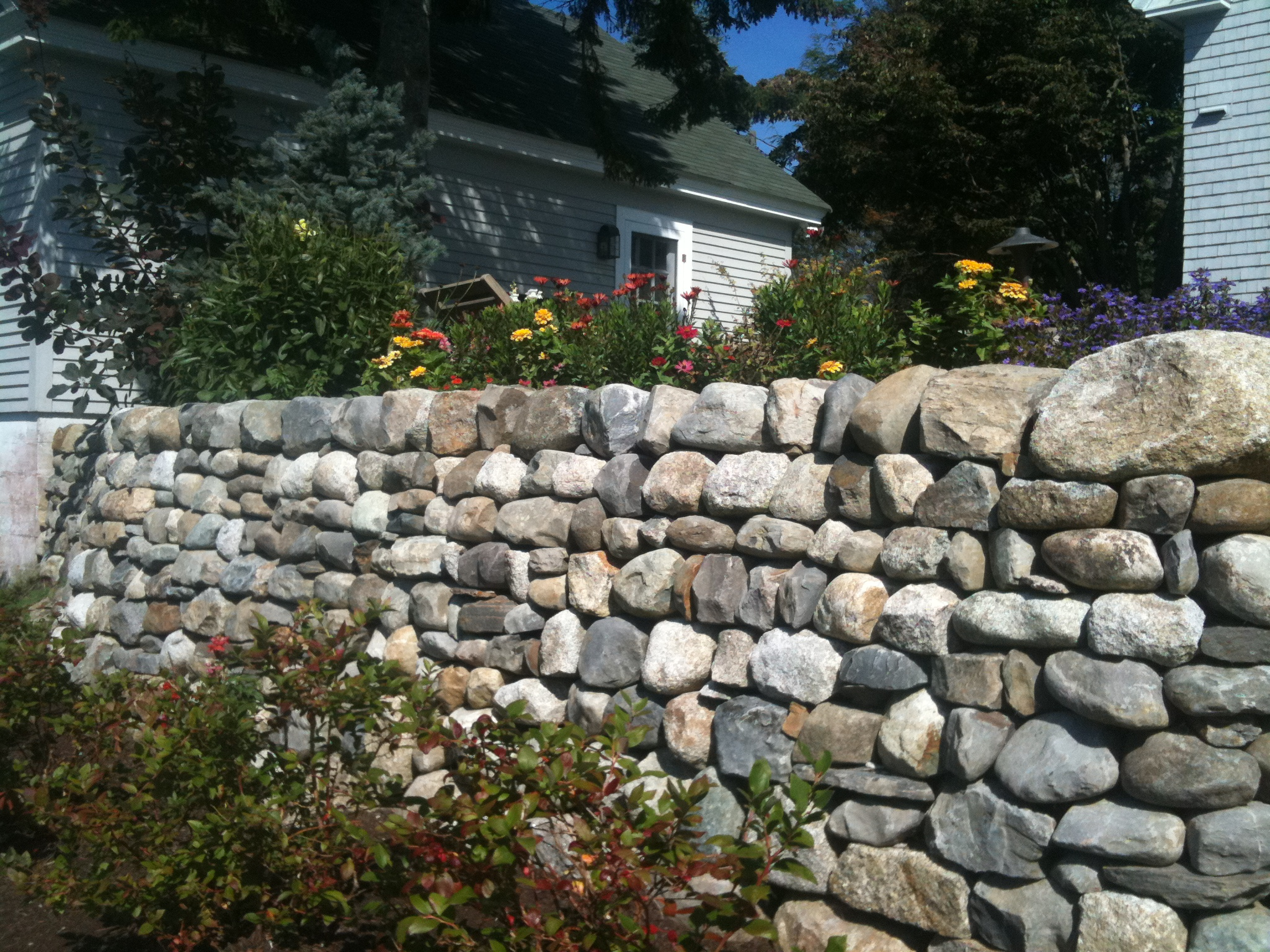 Landscapes can feature drystone walls for privacy & beauty.