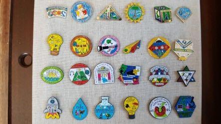 Past pin designs.