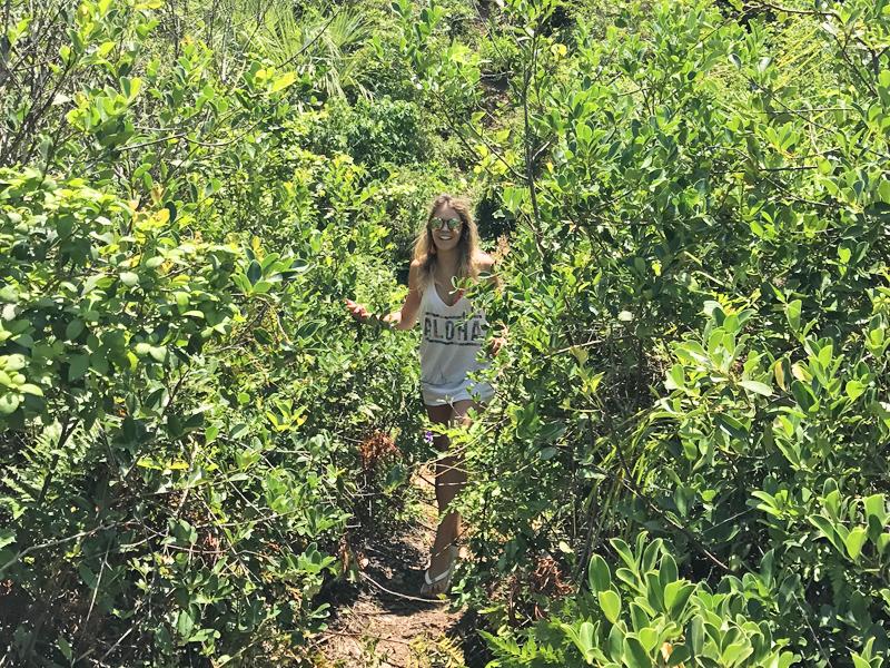 Aqui sou eu tentando encontrar o caminho da trilha