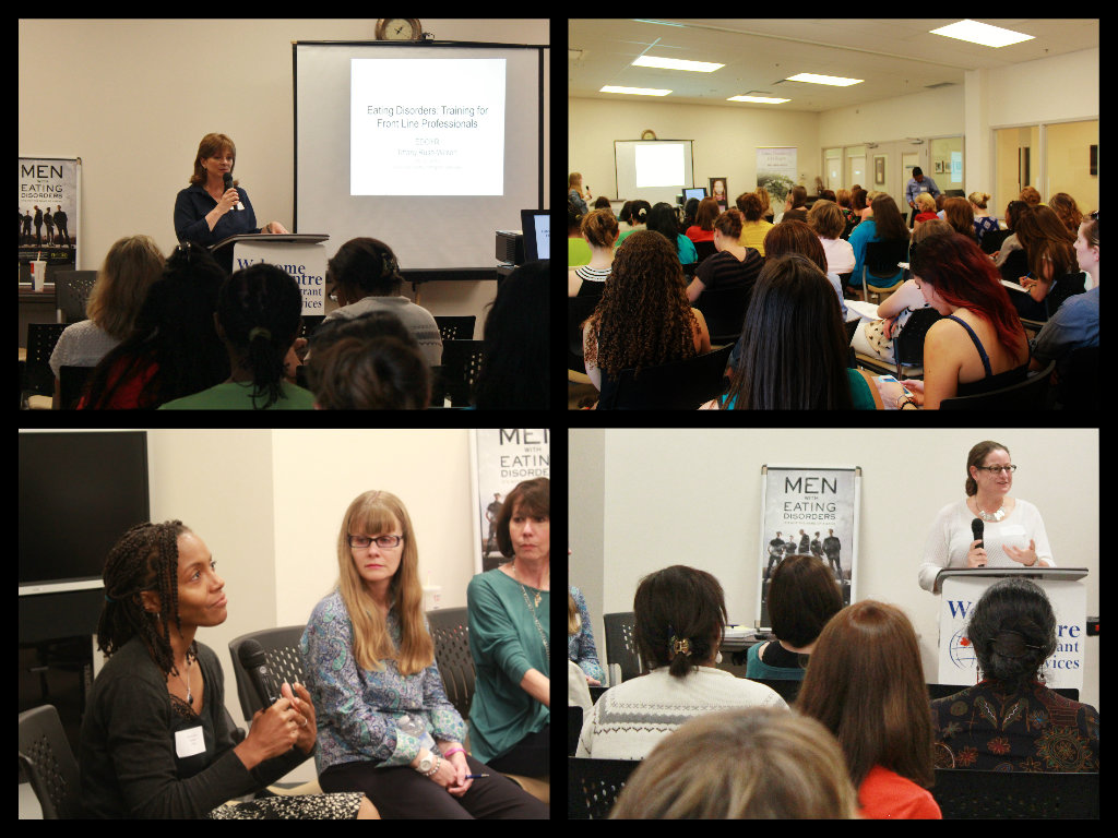 May 2013 Front Line Training for Professionals with psychotherapists Dr. Tiffany-Rush Wilson and Jane Alway, Dr. Judith Bercuson, and Faces of Recovery campaign members Liora Ginzburg and Wendy Hughes.