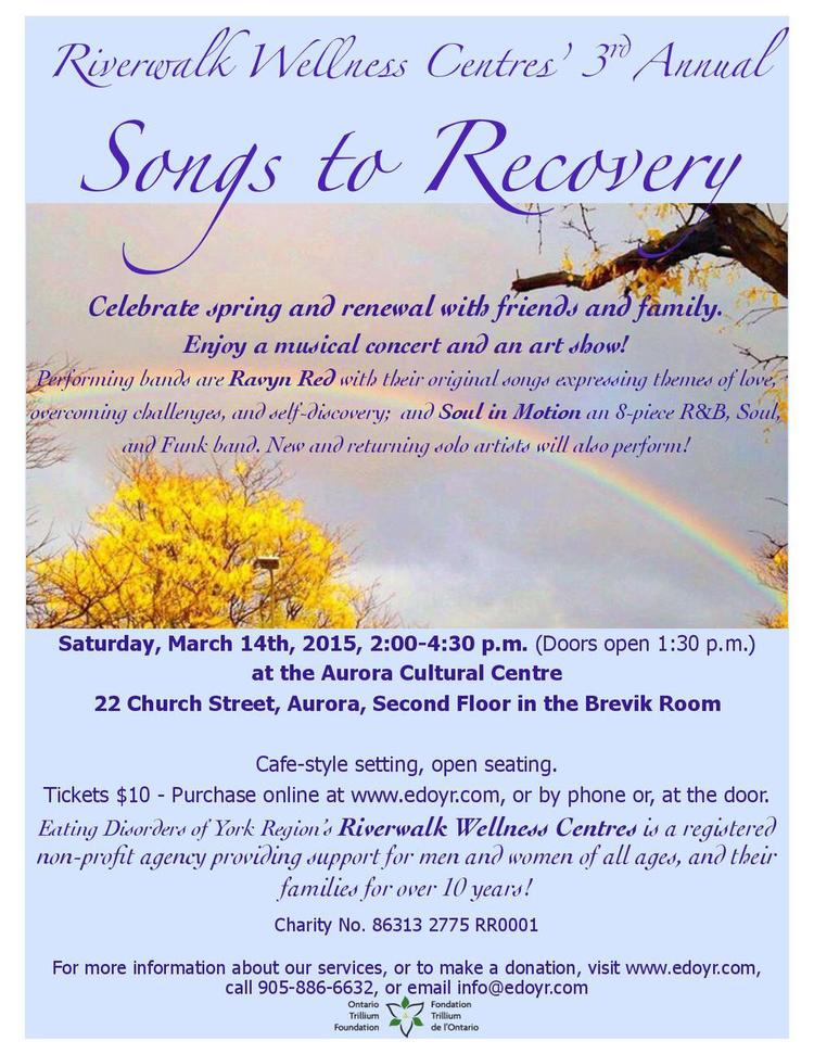 Songs to Recovery event spreads word about Eating Disorders of York Region's Riverwalk Wellness Centres