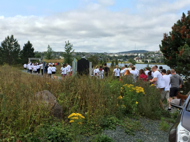 "Remembering Renata ""Walking Across Canada"" in St. John's. NL, where Eating Disorder Foundation of Newfoundland and Labrador kicked off the walk!"
