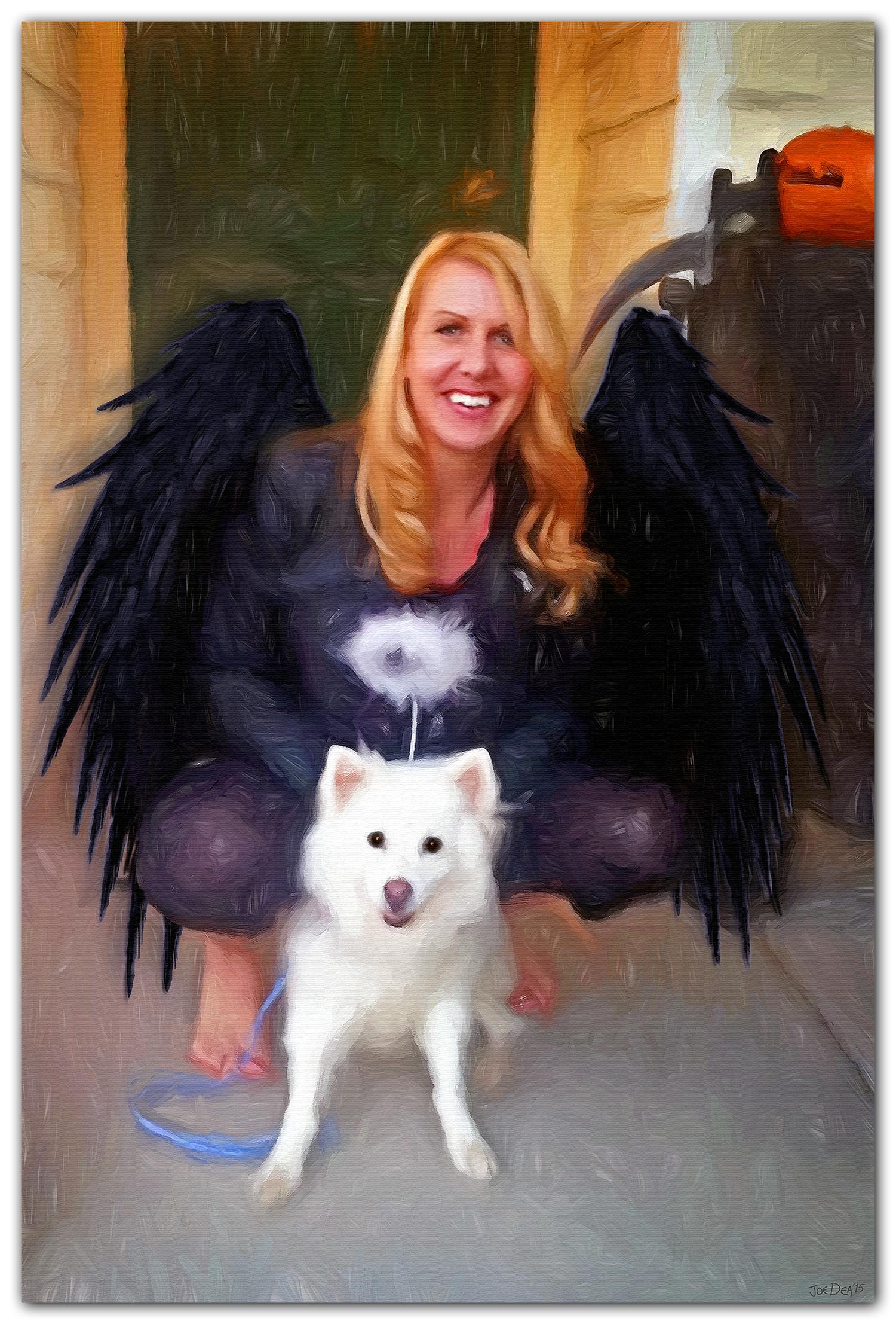 Spitz Dog Painting