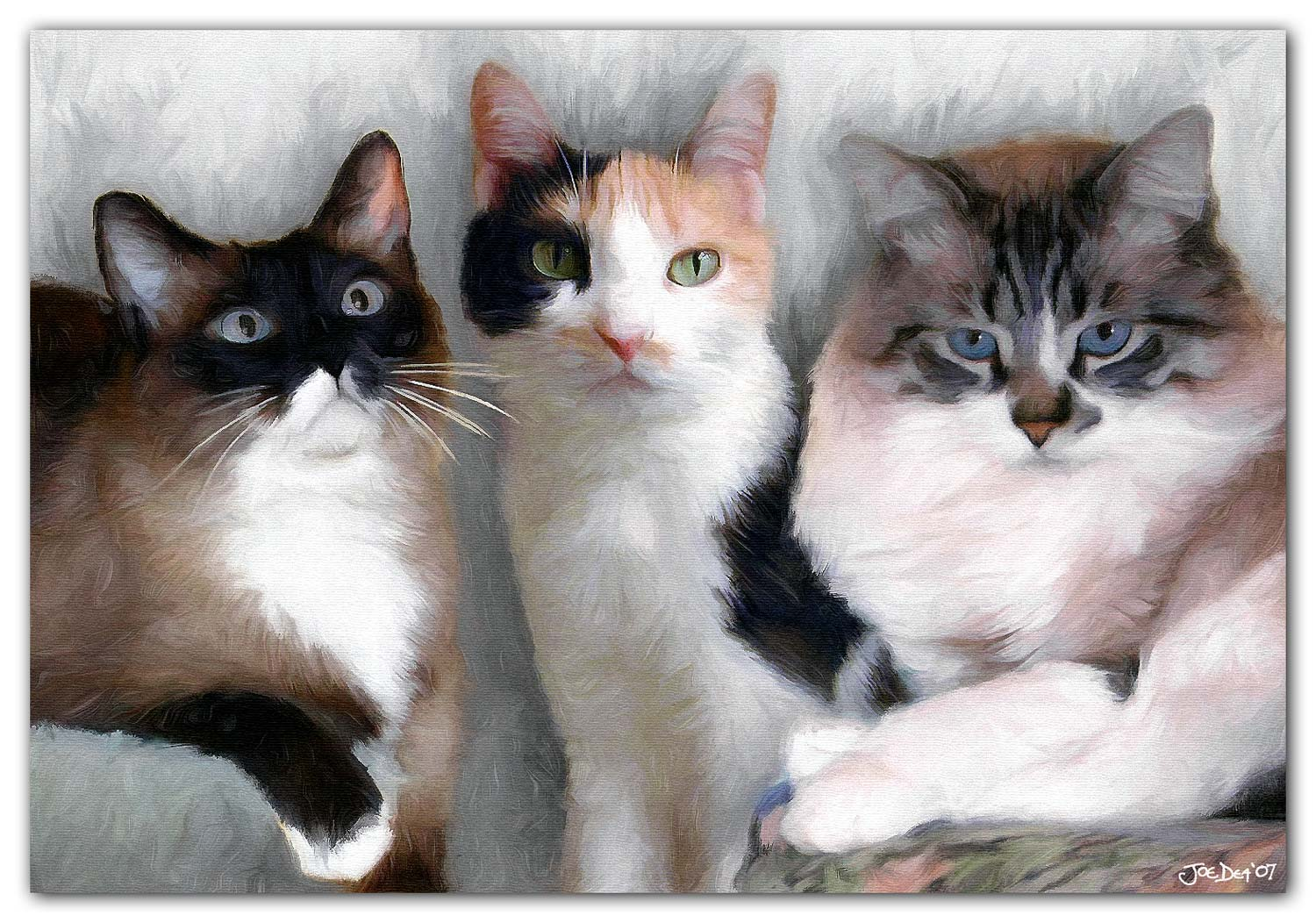 3 Cats Painting