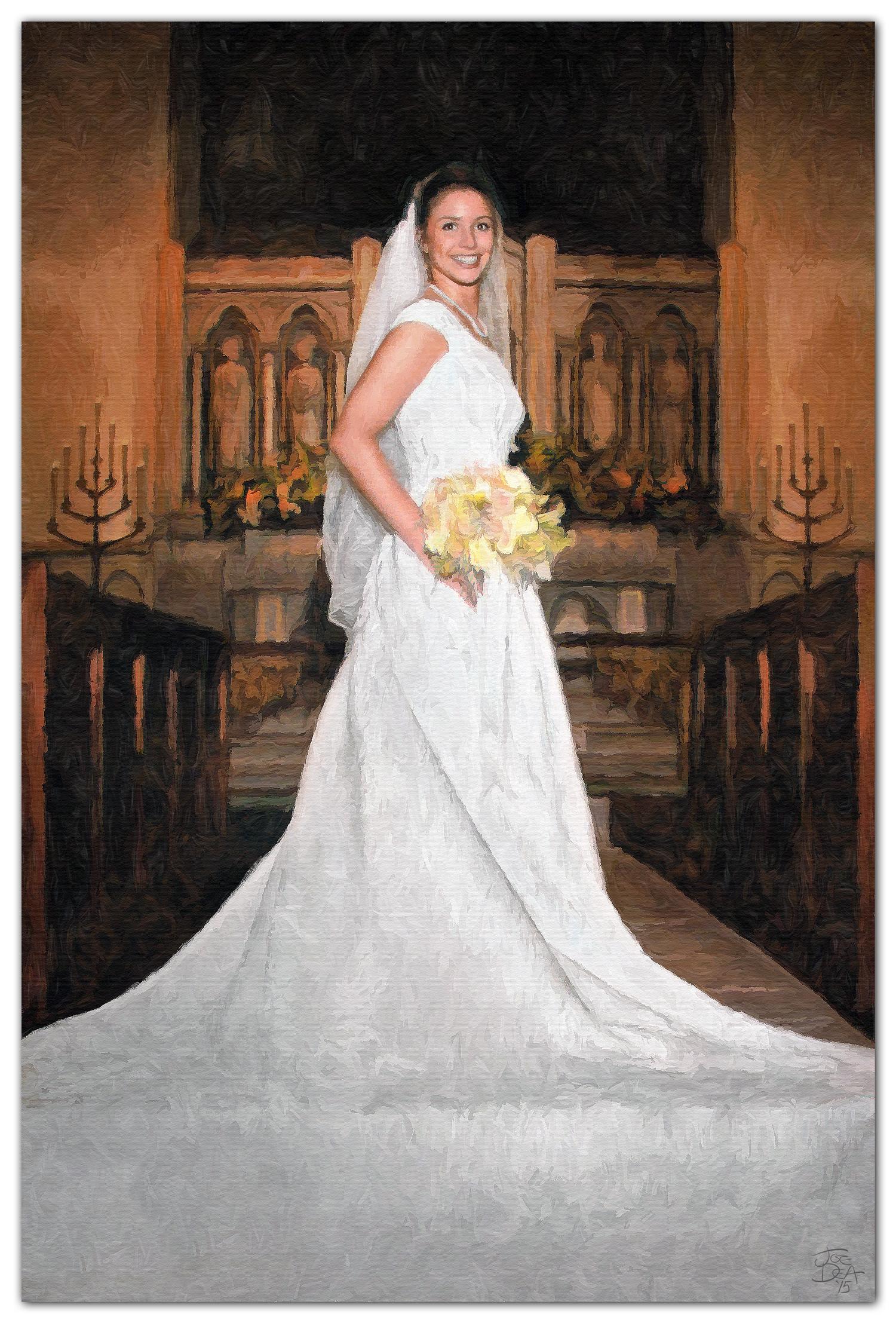 Bride Portrait Painting