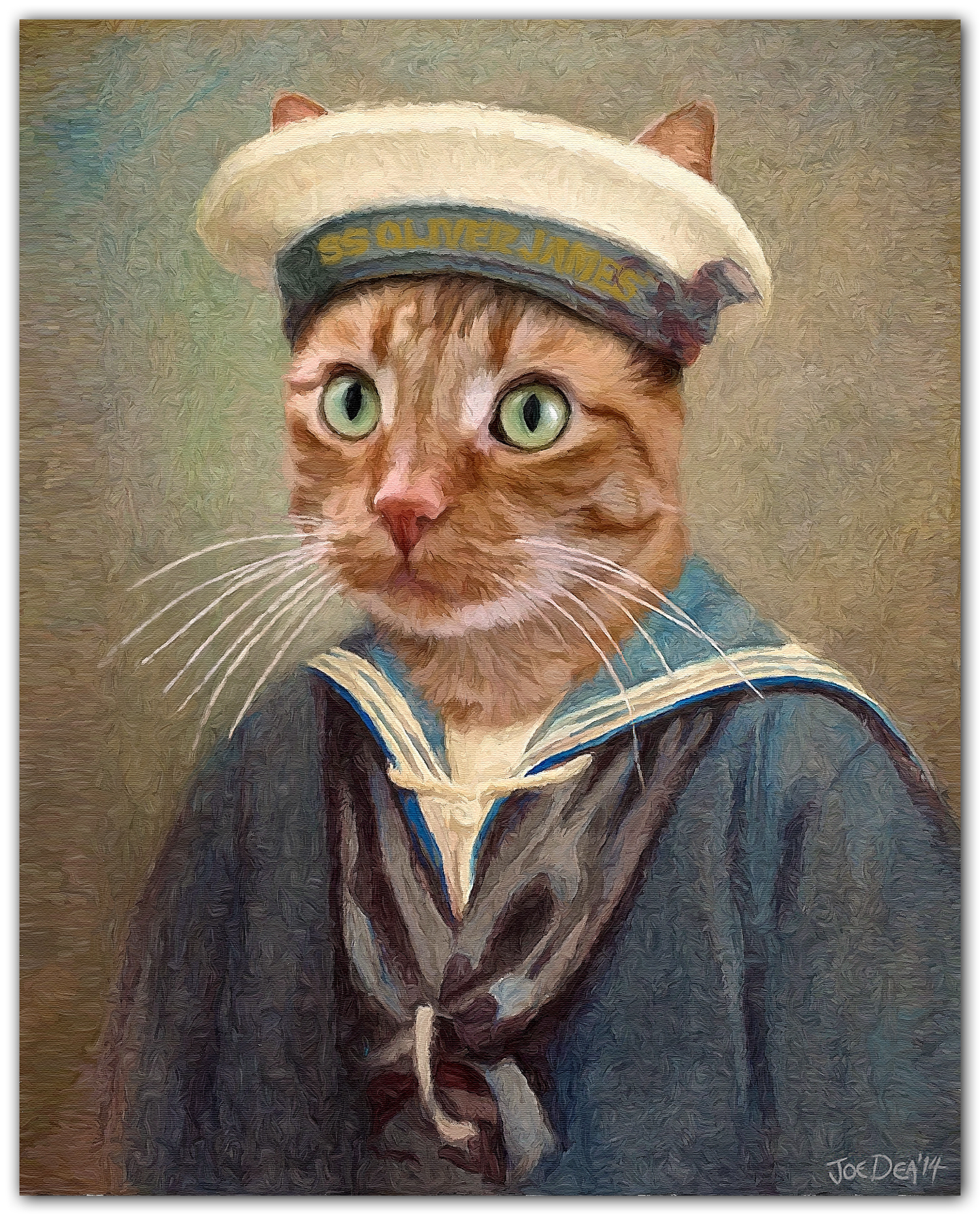 Cat Sailor Painting from photos