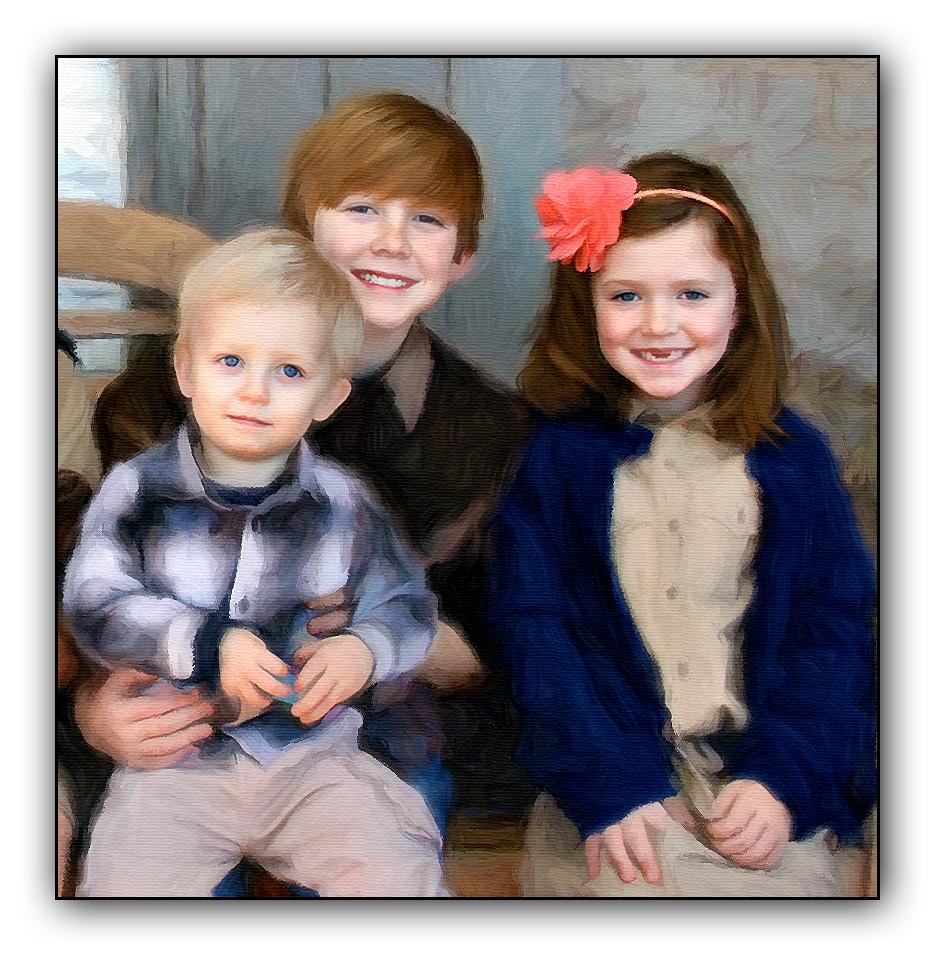 grandchildren portrait painting