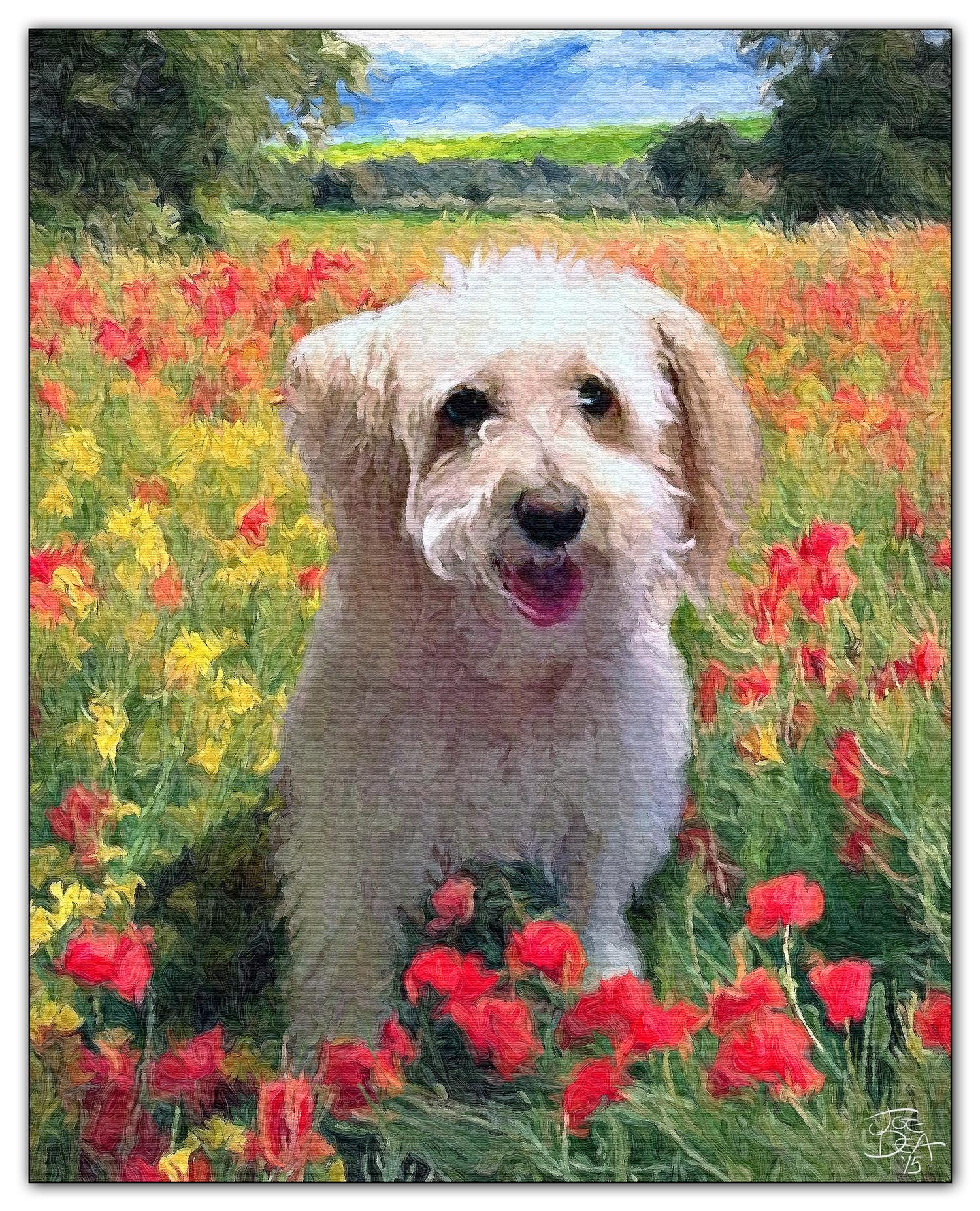 dog oil painting artist