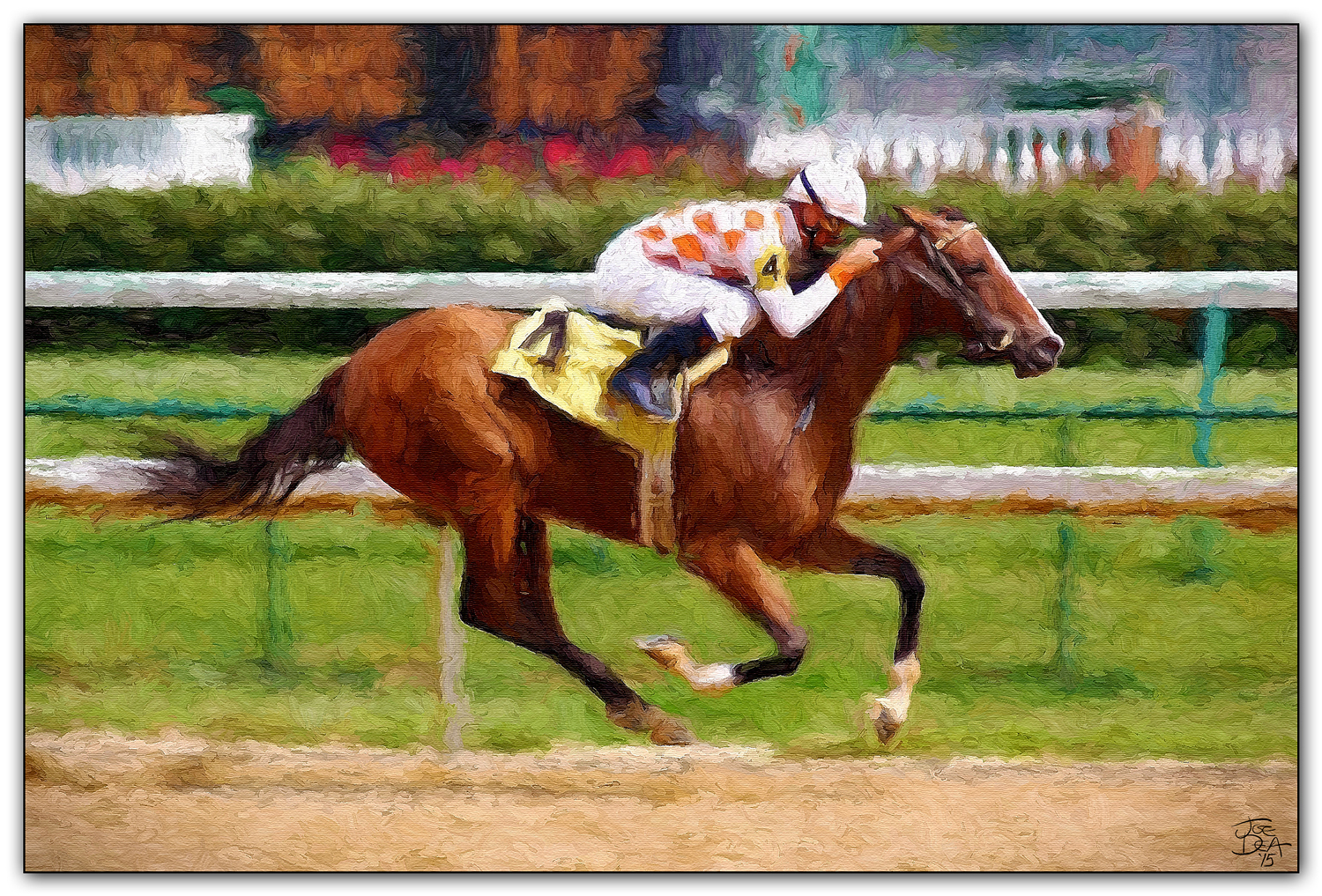 Thoroughbred Racehorse Painting