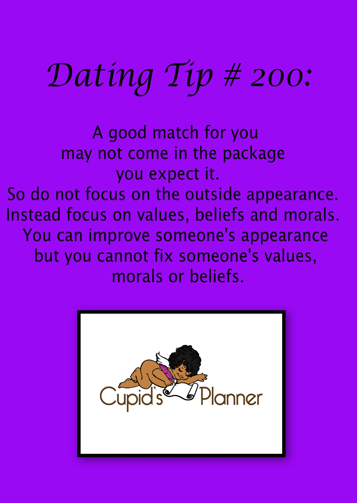 Dating Tip Finding Your Match
