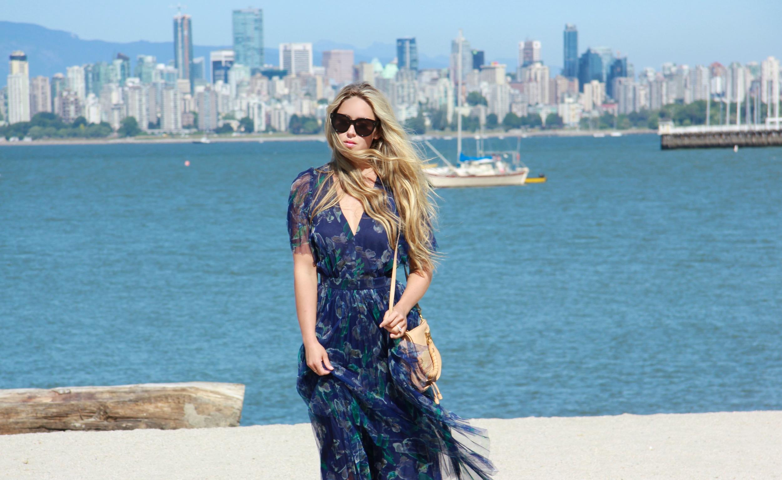 Marchesa Voyage  Peasant Dress  &  Maxi Dress, Chloé Bag,  Prada  Bag,  Valentino  Flats All via  Ideel
