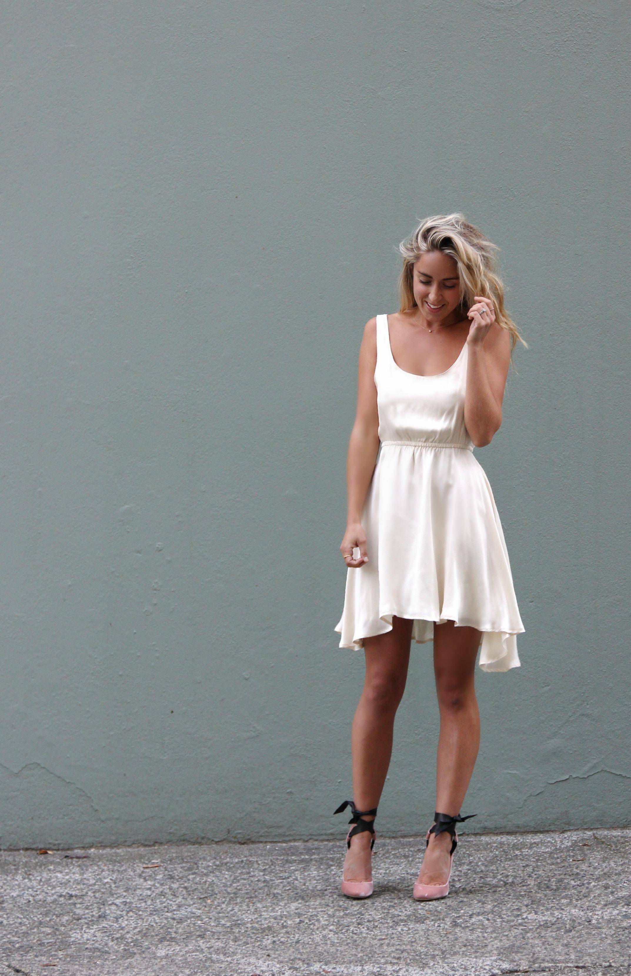 Anine Bing  Dress ( similar ),  Jimmy Choo  Heels
