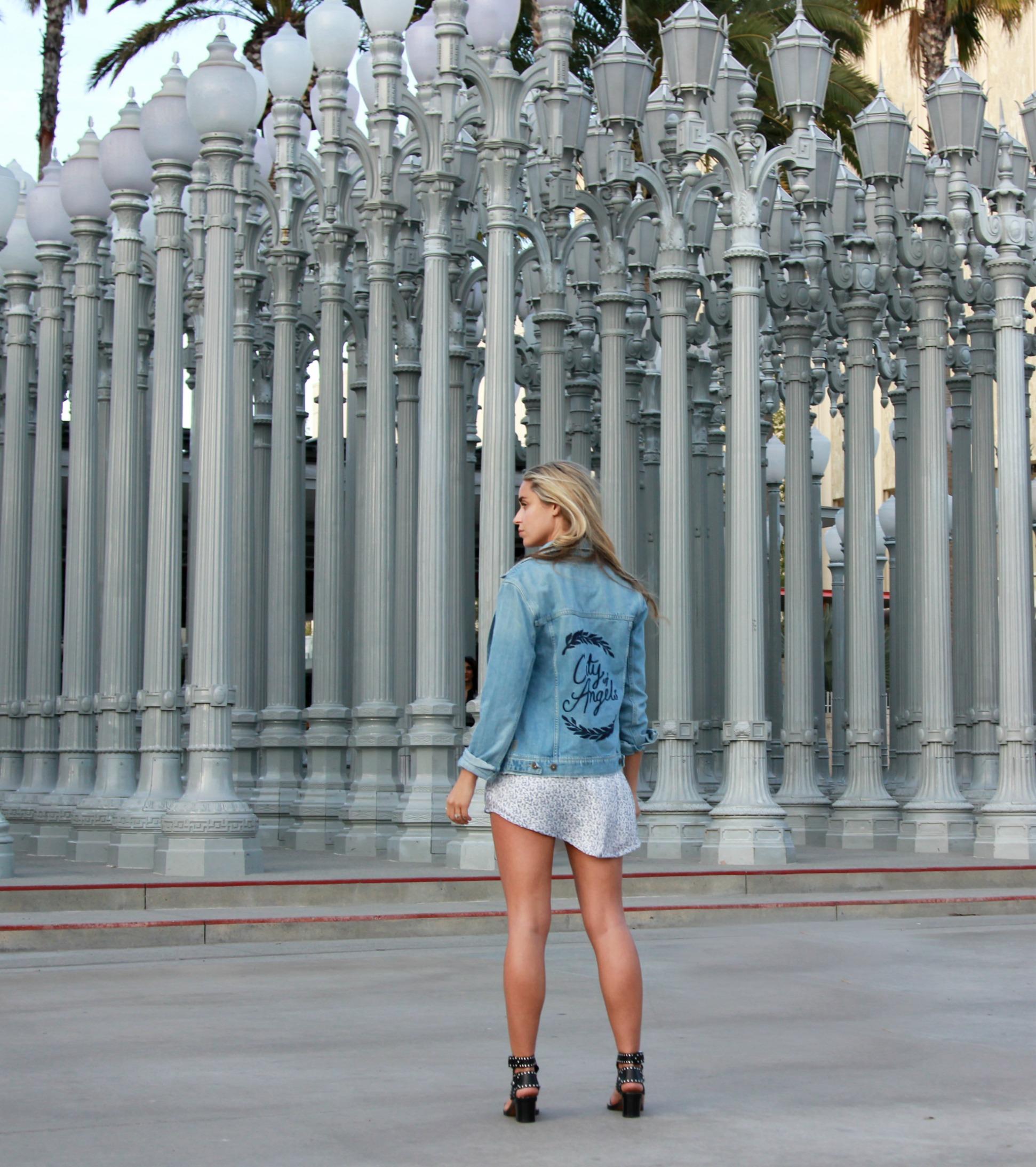 Paige Denim  Jacket,  Windsor Store  Dress,  Céline  Bag via  Bella Bag ,  Isabel Marant  Shades