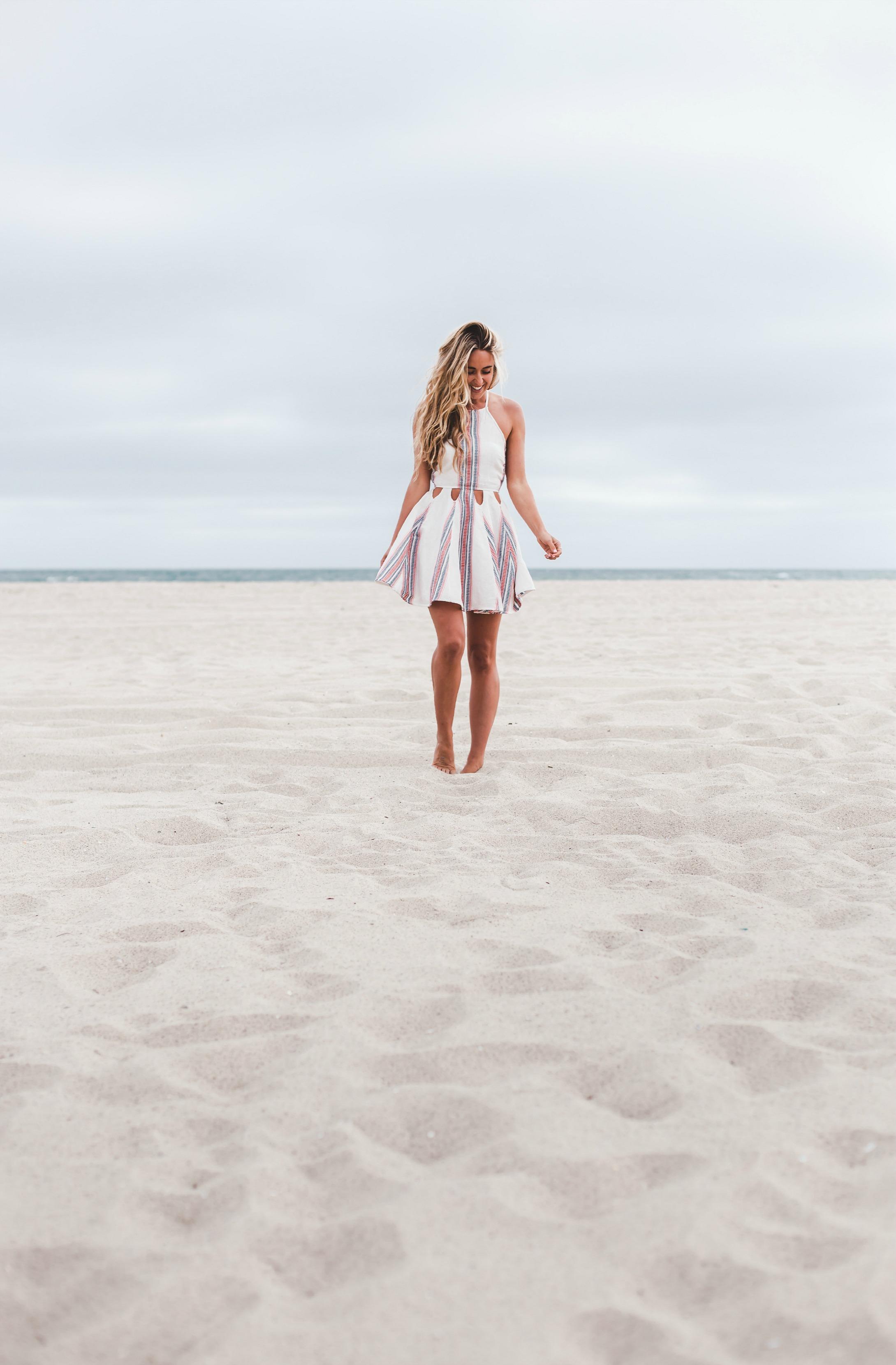 Photography by  Trent Haaland   Tularosa  Dress via  Revolve , Céline Sandals