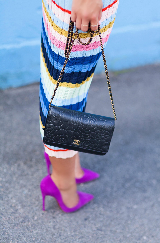 Photos by  Allison Kuhl   H&M Dress, Chanel Bag, Céline Bracelet, Christian Louboutin Pumps