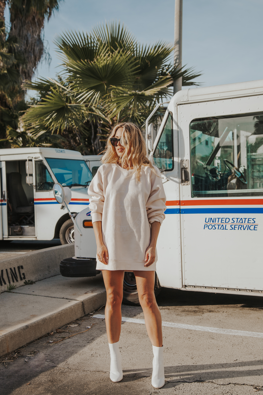 Photos by Paige Owen  Brunette The Label   Babes Big Sister Sweater , Ferragamo Boots via  Madison Style
