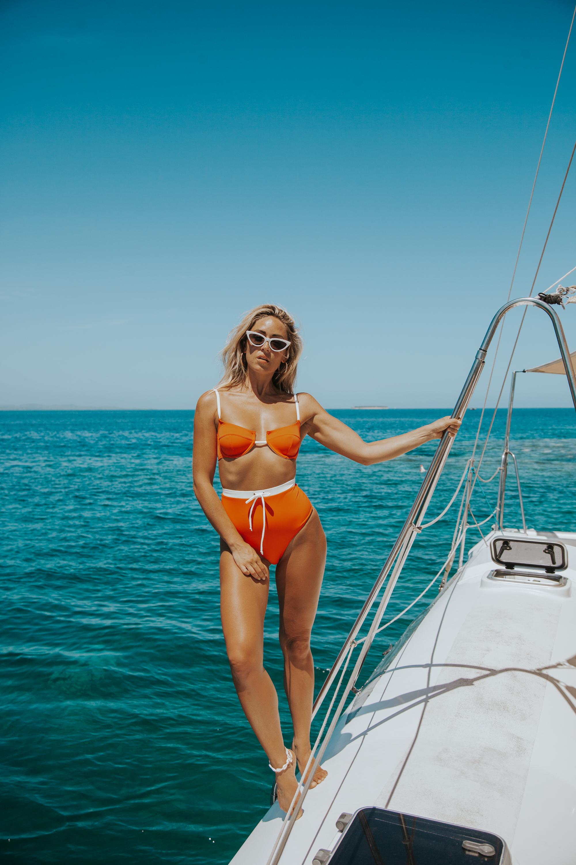 Photos by Paige Owen Pose Set, Monday Swimwear Leopard Suit, Solid & Striped Suit