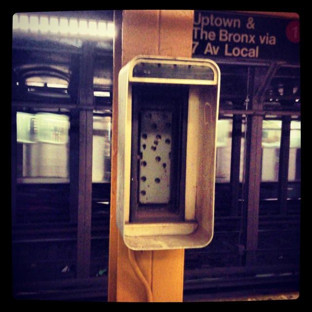 NYC subway phone.
