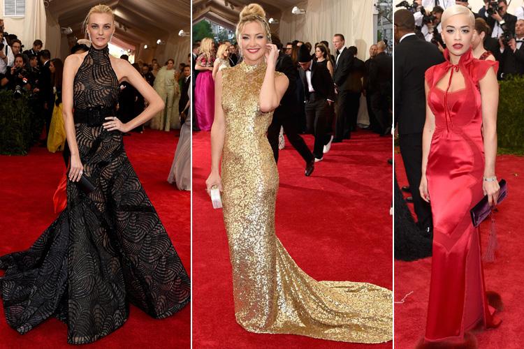 Caroline Trentini in Versace Kate Hudson in Michael Kors Rita Ora in TomFord