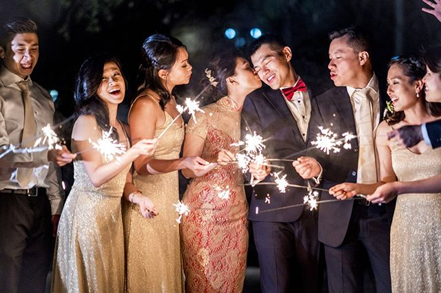 It's always a good idea to be surrounded with the besties. Loving how the gold/maroon qipao dress turned out on our #LovelyLumiereBride 💕💕⁠ .⁠ .⁠ Dress: @lumierecouturebridal⁠ 📷: @jamesgiovannipan @pan_lumiere_curation⁠ .⁠ .⁠ .⁠ .⁠ .⁠ #sparklers #jamesgiovannipan #lumierecuration #lumierecouturebridal #besties #sfwedding⁠  #californiawedding #stylishbride #bestfriends #happilyeverafter #love #multicultural #lacedress #handcrafted #chinese #modernchinese #eastmeetswest #oriental #mandarincollar #modernoriental #modernchinesedress #qipao #cheongsam #qipaodress #modernqipao #旗袍 #moderncheongsam #qipaomodern #lumierecouturebridalstudio