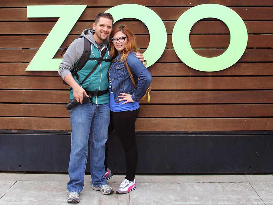 Wren and I atWoodland Park Zoo.