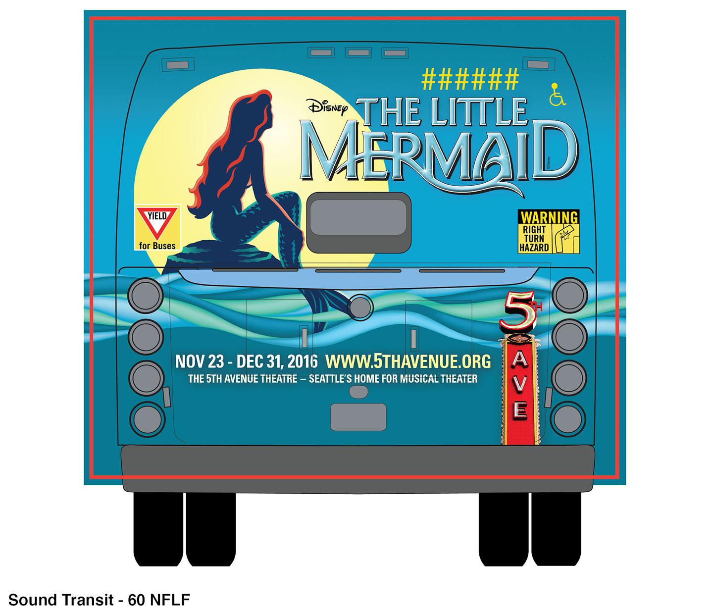 The Little Mermaid  - Fullback Bus Wrap