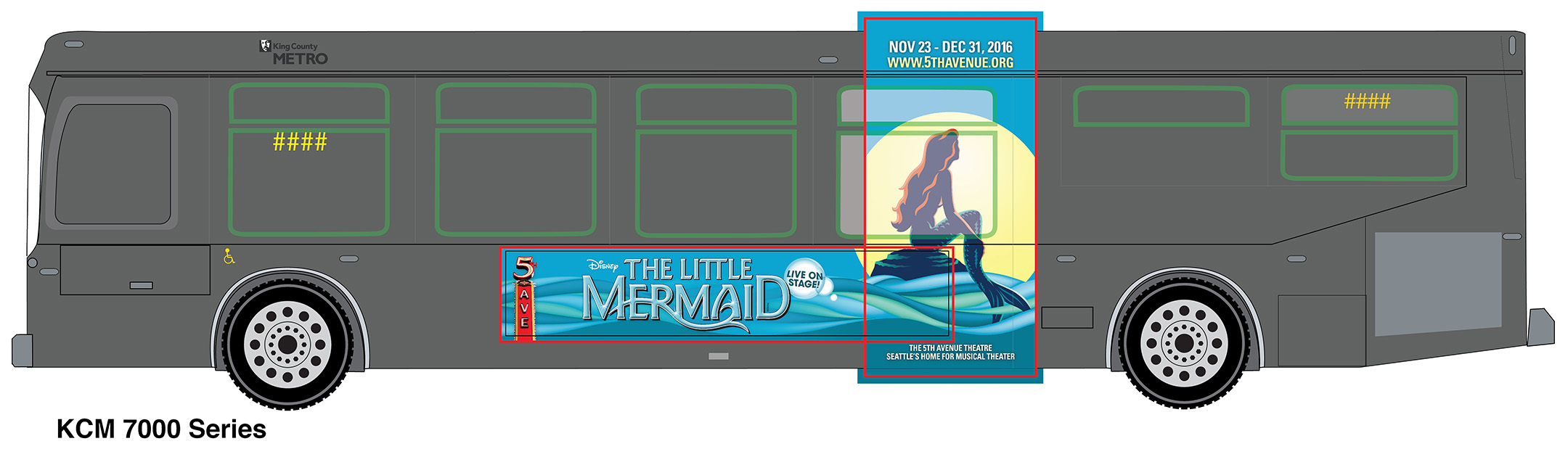 The Little Mermaid  - King with Vertical Panel