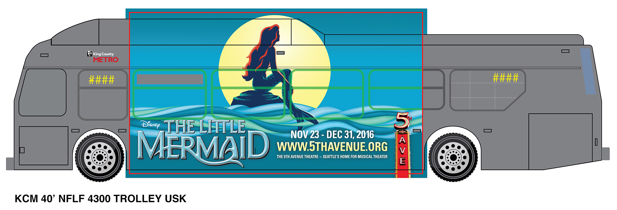 The Little Mermaid  - Ultra Super King Bus Wraps