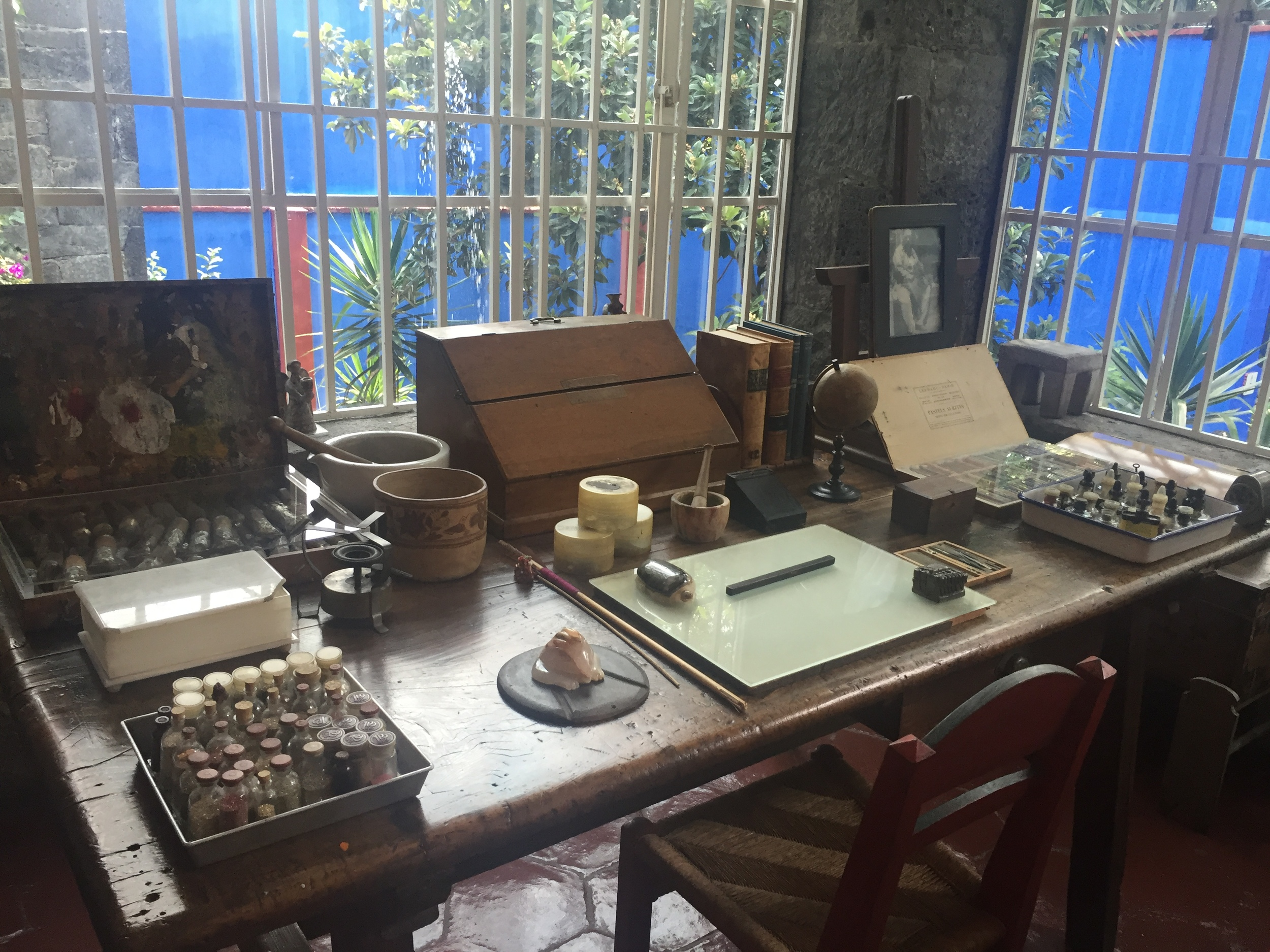 Frida's wonderful studio on the second floor.