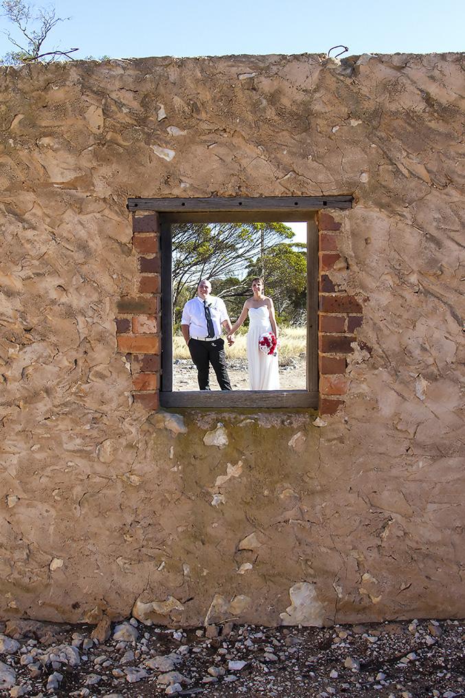 Monarto Zoo Ruin window portrait