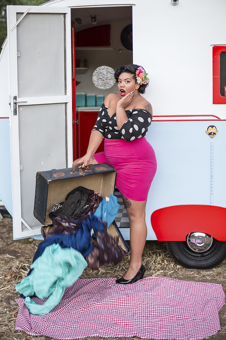 Trailer Trash Pinup Girl 13