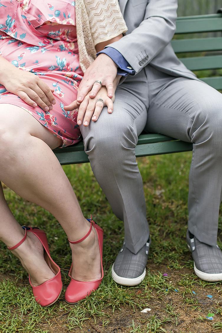 valentines day small backyard wedding hands & feet portrait