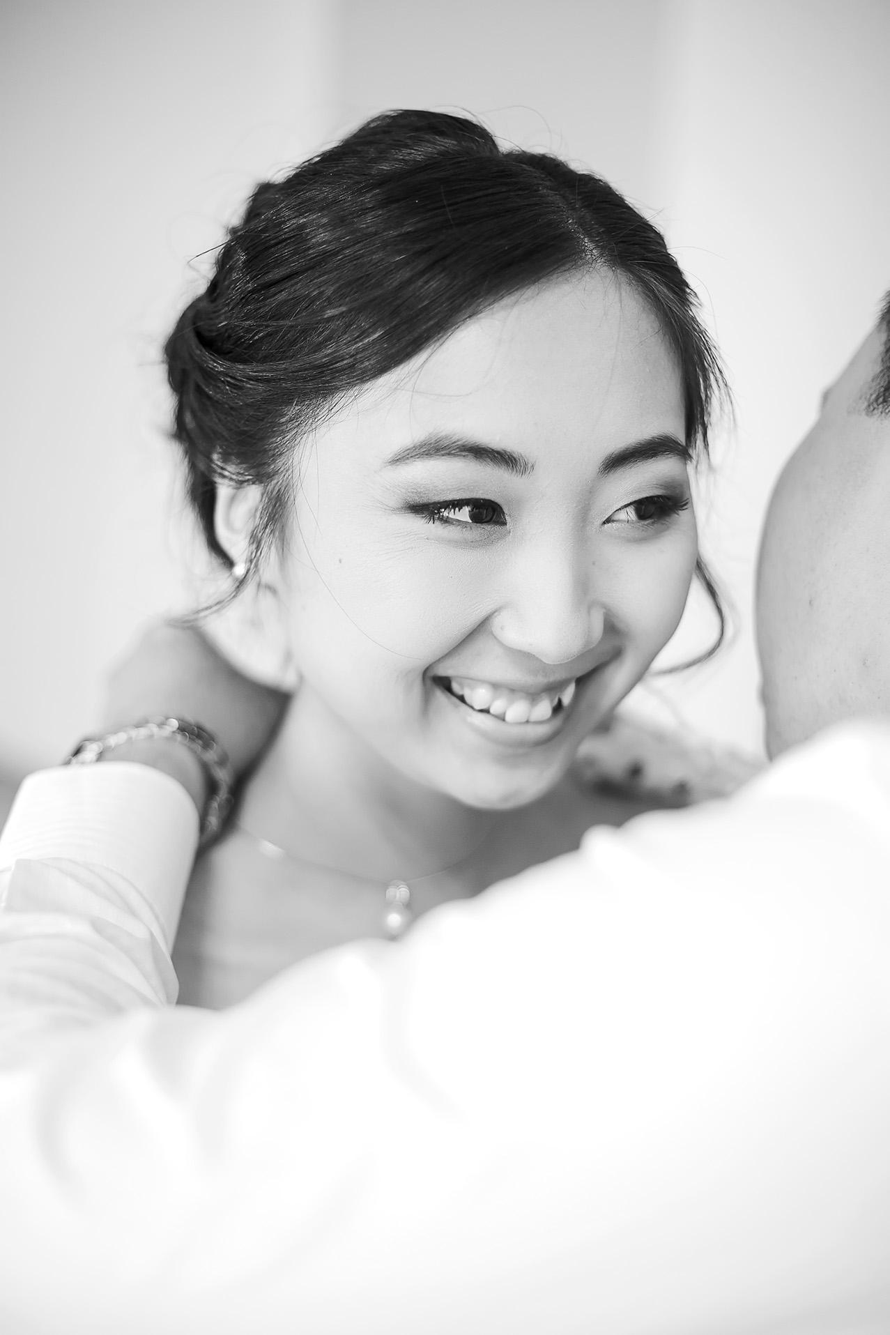 Black and White Bridal Preparation photo 2