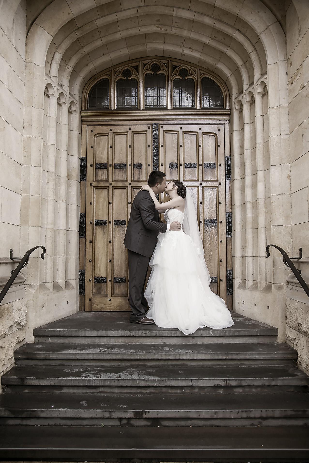 Adelaide University Wedding Portraits sepia film style