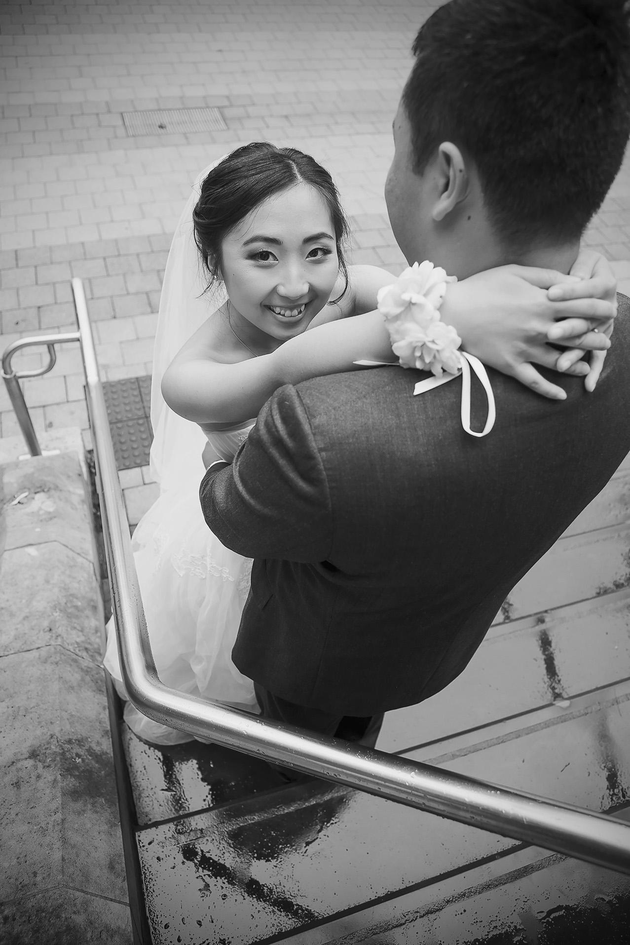 Adelaide University Wedding Portraits Black and white film style 4