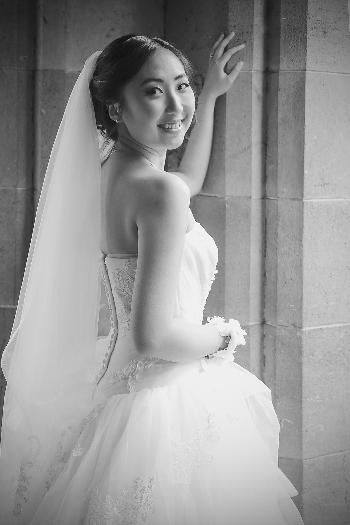Adelaide University Wedding Portraits Black and white film style 5