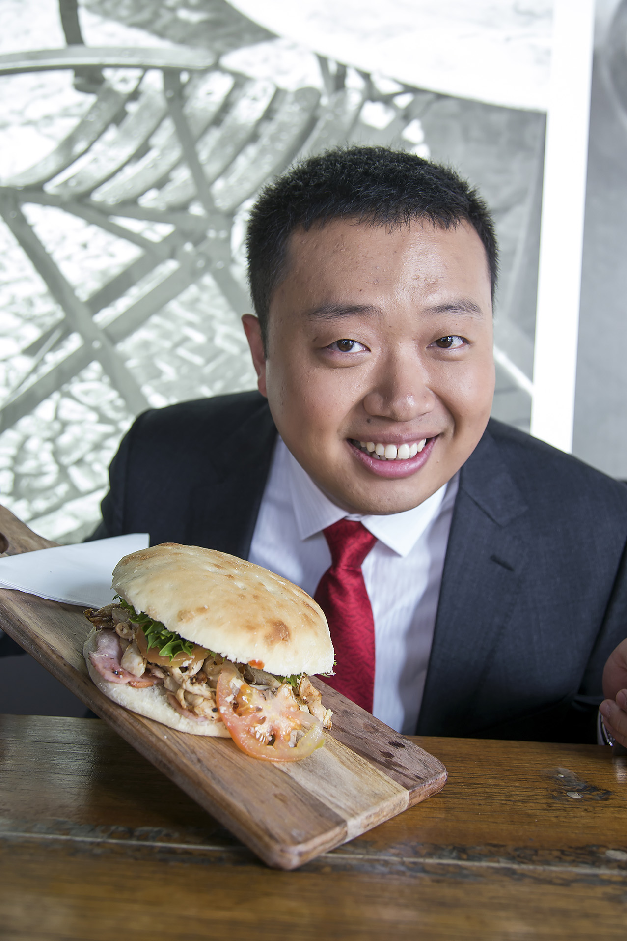 Adelaide City Cafe Wedding Portraits Big Burger
