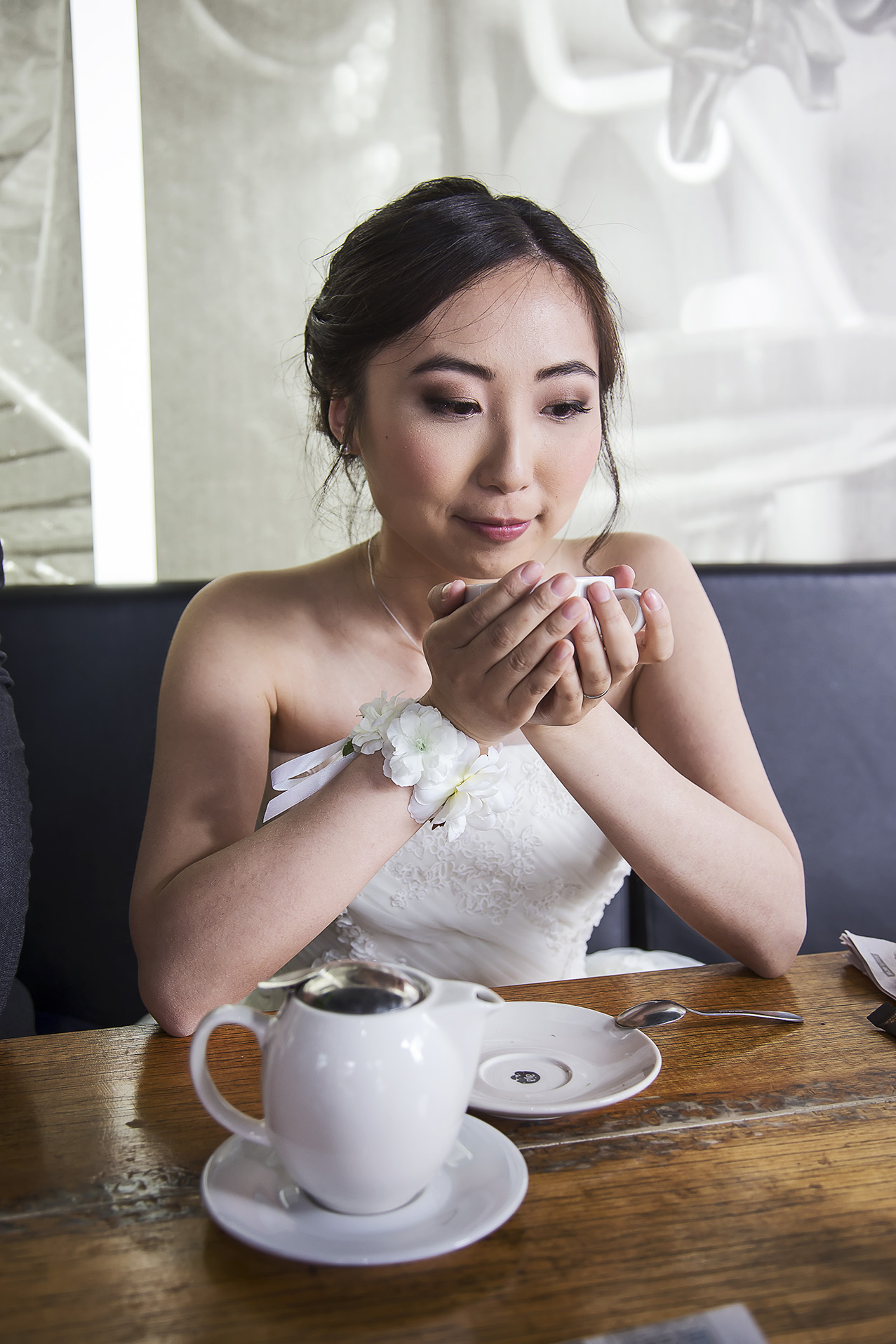 Adelaide City Cafe Wedding Portraits Cup of Tea