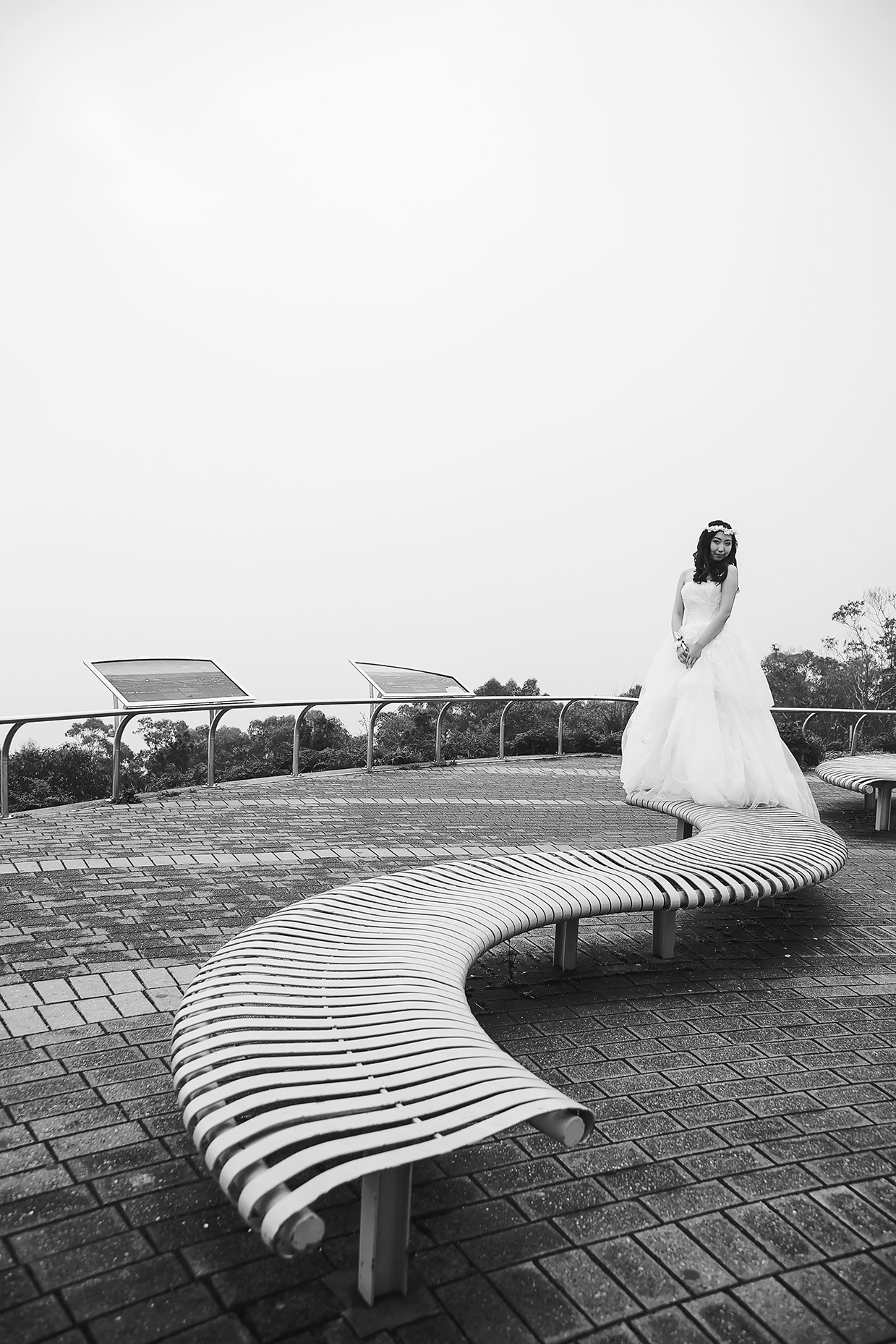 Artistic Black and White Wedding Photo 1