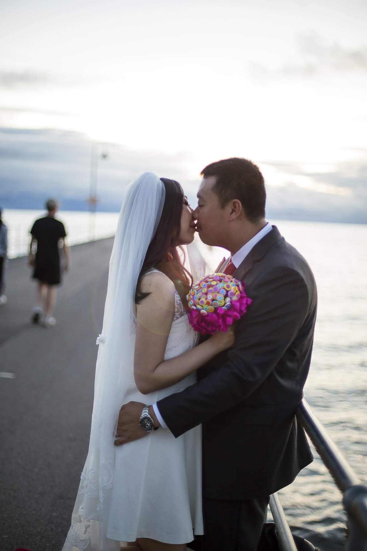 Glenelg Beach Magic Hour Sunset Wedding Photo 2