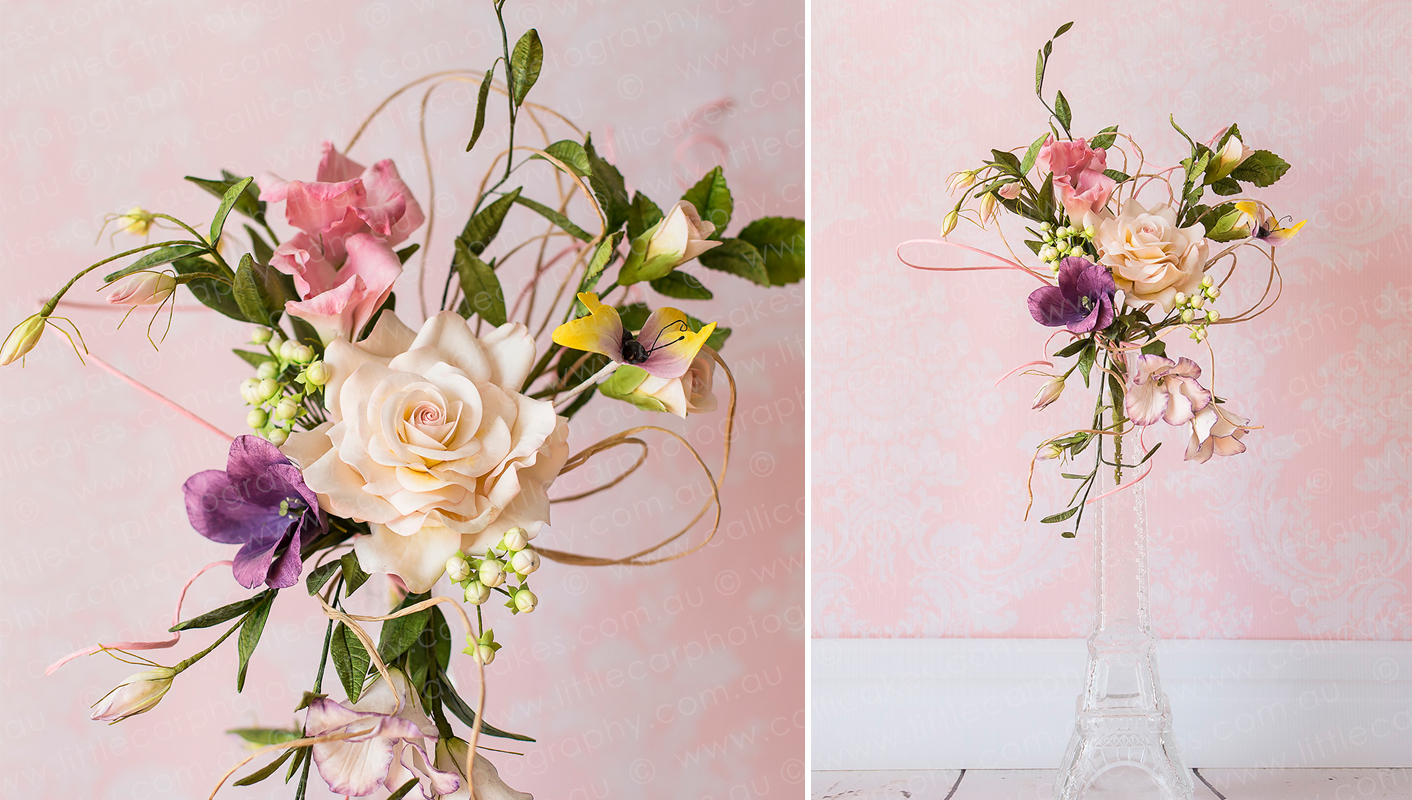 11 Wedding Photography of Sugar Art funky rose flower bouquet.jpg