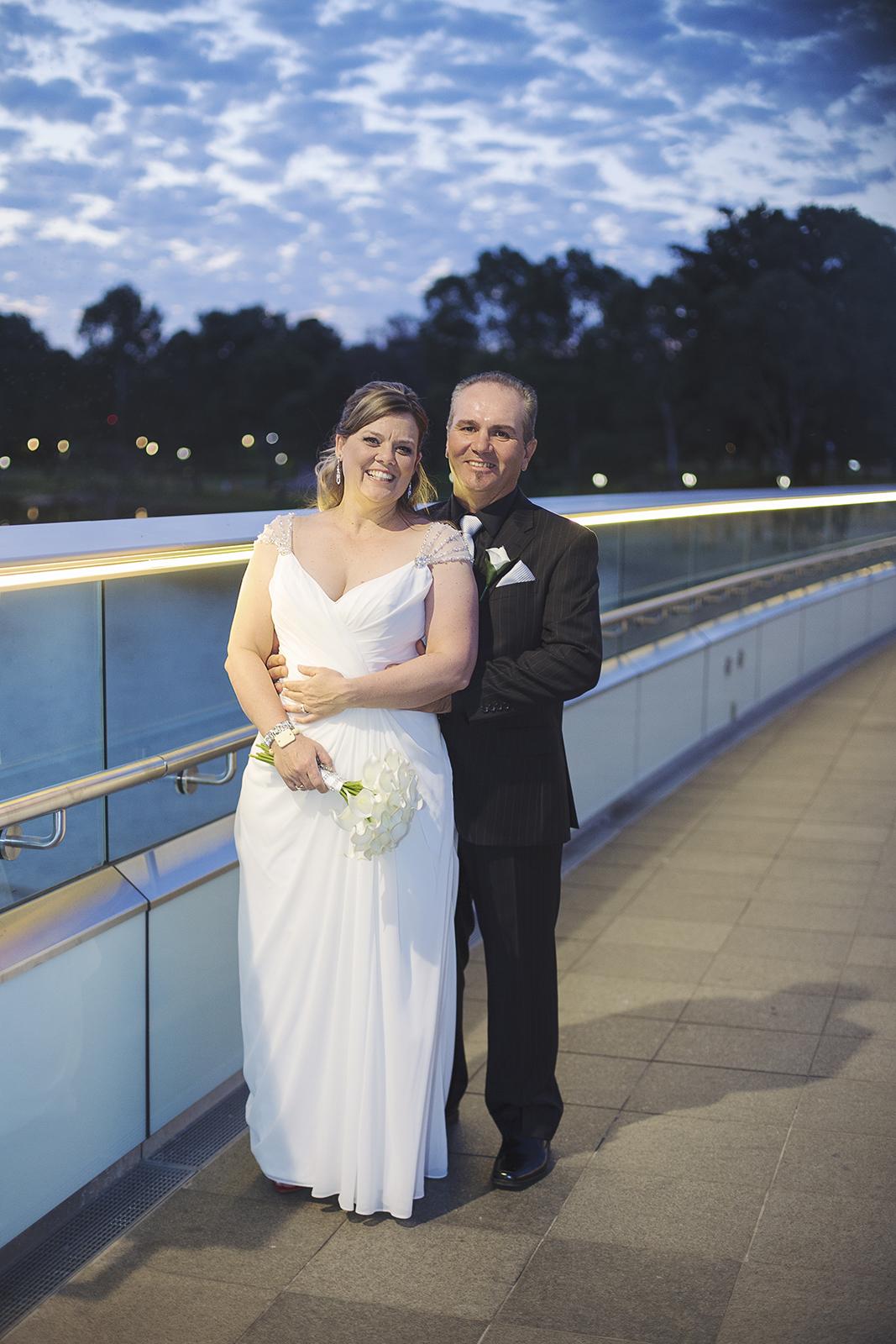 twilight wedding portrait on the river torrens.jpg