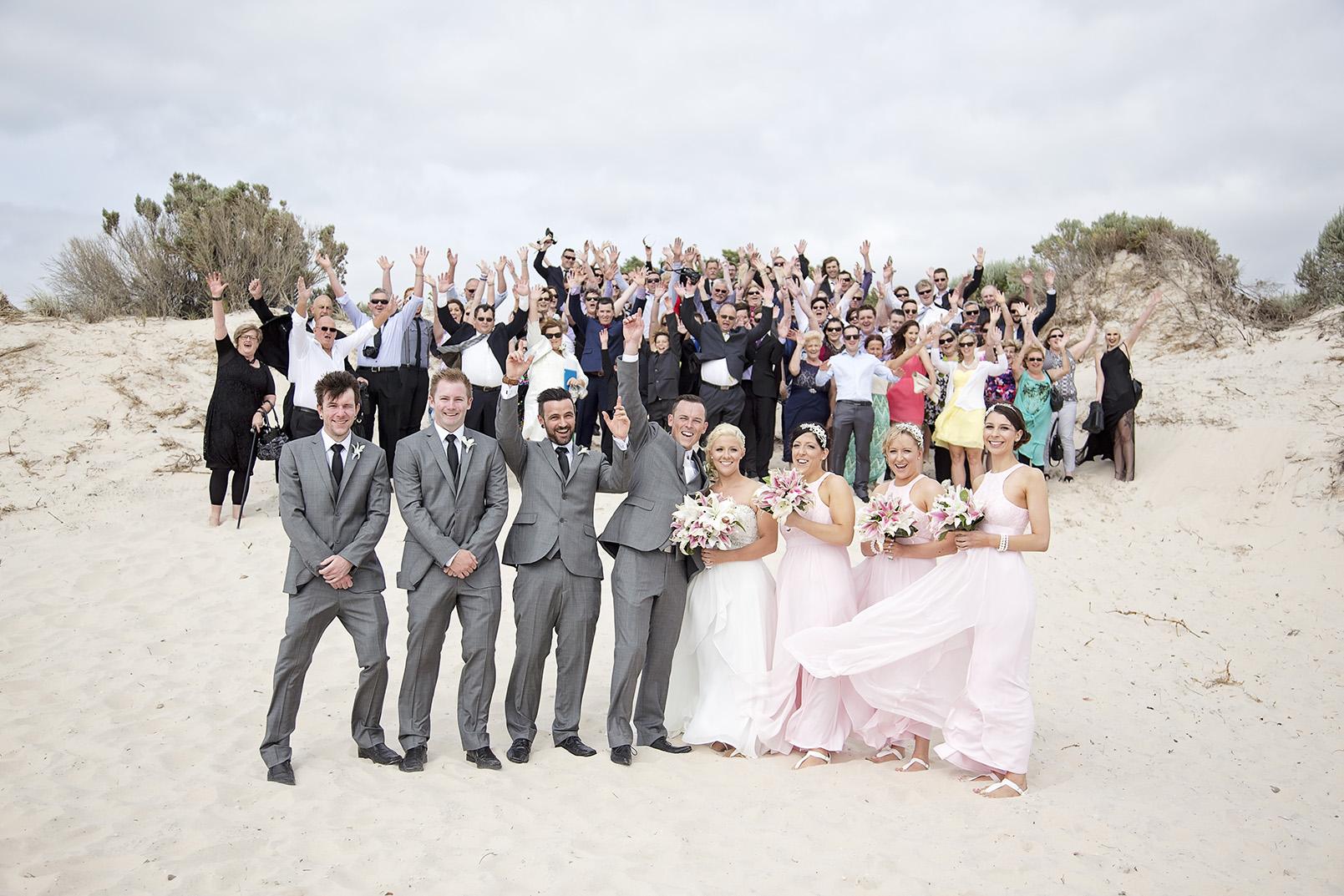 Adelaide Beach Wedding West Beach 07 Group Photo.jpg