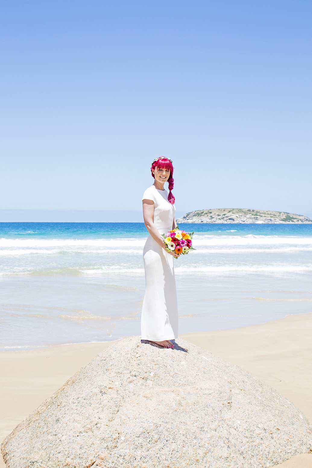 Victor Harbour Wedding Photography 019 bride portrait beach.jpg
