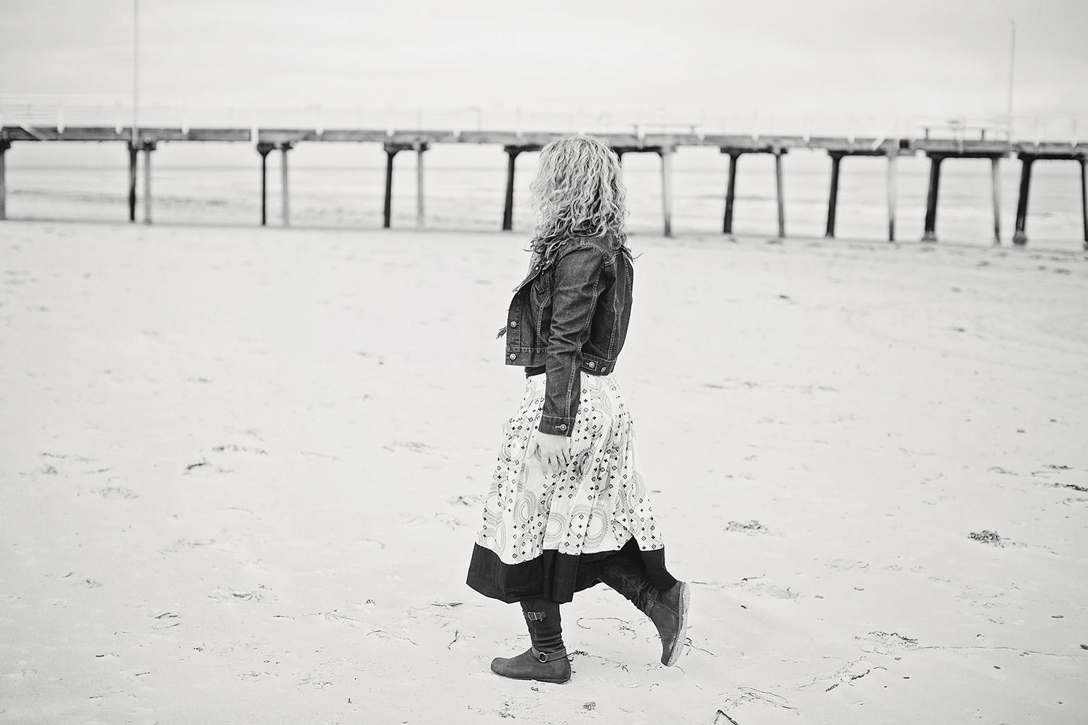 Free Spirited Natural Portrait Photography on the Beach 13 black & white.jpg